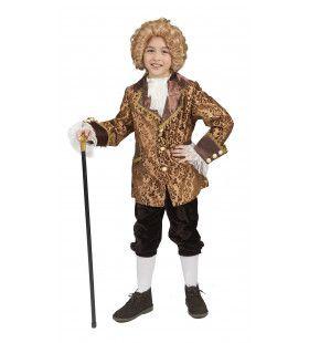 Barok Heer Amoroso Jongen Kostuum