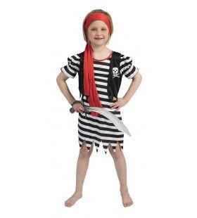 Pirate Dyonne Meisje Kostuum