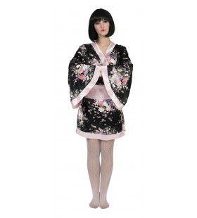 Japanse Kimono Shimasake Vrouw Kostuum