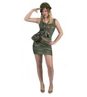 Sexy Legerdame Amy Vrouw Kostuum