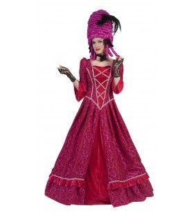 Roze Barok Beauty Vrouw Kostuum