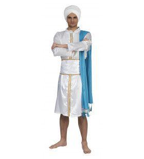 Indiaanse Prins Punjaab Man Kostuum