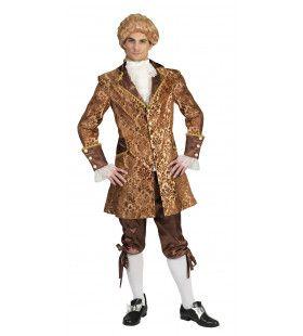 Gouden Barok Heer Man Kostuum