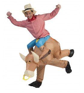 Rodeo Cowboy Op Stier Kostuum
