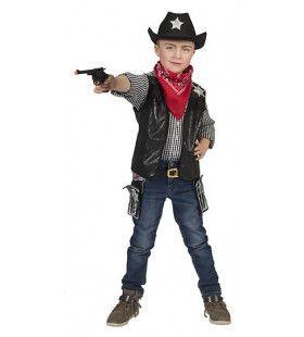 Cowboy Vest Nevada Zwart Jongen