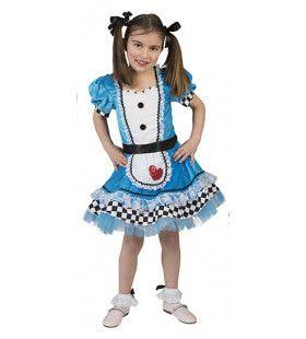 Wonderbaarlijke Alice In Wonderland Meisje Kostuum