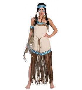 Wapperende Wigwam Indiaan Vrouw Kostuum