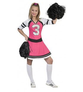 Stralende Sandy Cheerleader Vrouw Kostuum