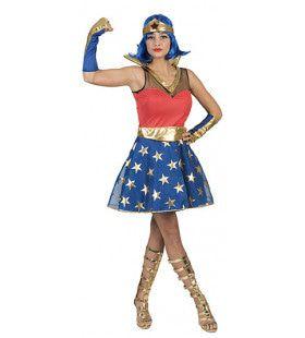 Zo Sterk Als Staal Superwoman Vrouw Kostuum