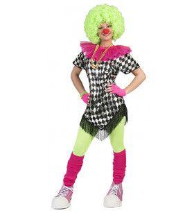 Altijd Vrolijke Clown Peppina Vrouw Kostuum