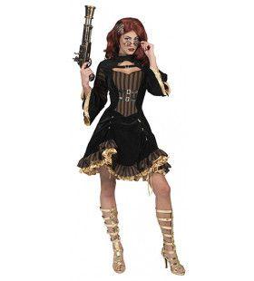 Hot Steampunk Sally Vrouw Kostuum