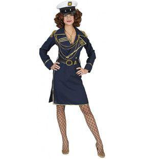 Cruiseboot Kapitein Carla Cocktail Vrouw Kostuum