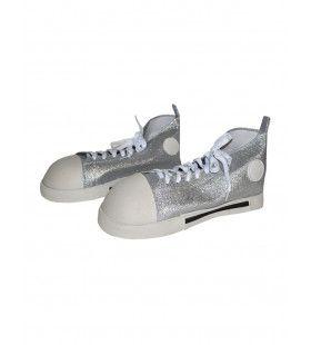 Gigantische Zilveren Sneakers Clown