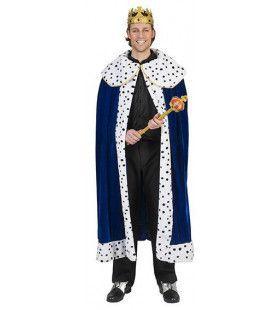 Koningsblauwe Mantel Arthur Kostuum