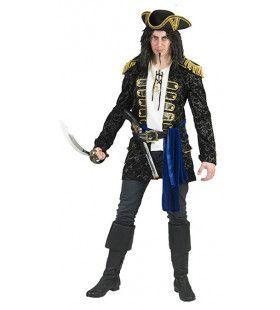 Kapitein Blauwoog Piraat Man Kostuum