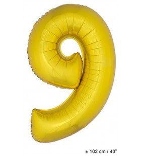 Ballon Nummer 9 Goud