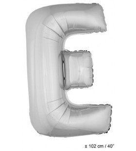 Ballon Letter E Zilver