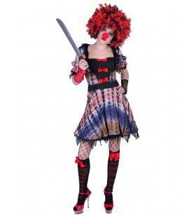 Akelig Ongezellig Halloween Clown Vrouw Kostuum