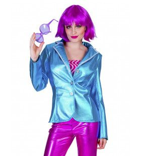 Disco Fever Jack Glimmend Blauw Vrouw