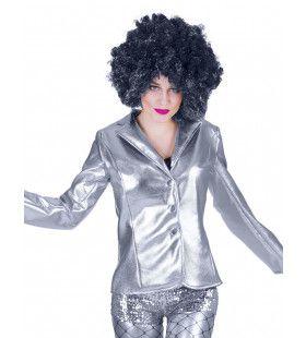 Disco Fever Jack Glinsterend Zilver Vrouw