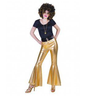 Disco Fever Broek Glinsterend Goud Vrouw
