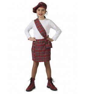 Schotse Suzy Rood Tartan Meisje Kostuum