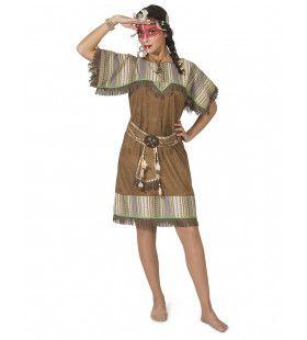 Wappo Indiaan Wilde Westen Amerika Vrouw Kostuum