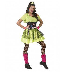 Jaren 80 Kiss The Girl Disco Dancer Vrouw Kostuum