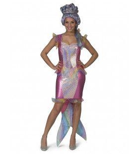 Middellandse Mythische Meermin Mandy Vrouw Kostuum