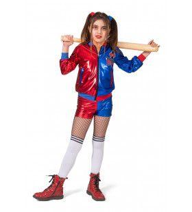 Komische Harley Meisje Kostuum