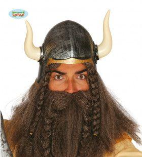 Barbaarse Helm Met Hoorns