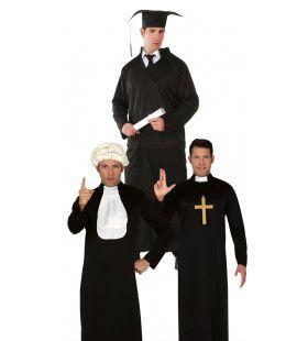 Zwart Habijt Man Kostuum