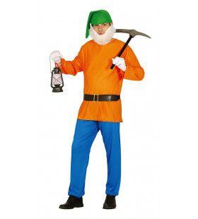 Nijvere Dwerg Man Kostuum