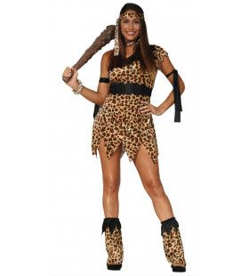 Katja De Cavewoman Luipaard Vrouw Kostuum