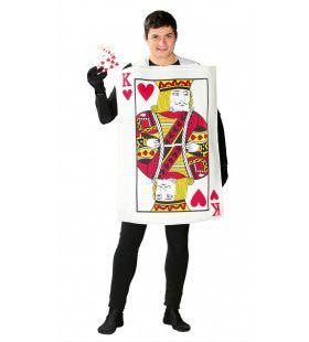Alice In Wonderland Hartenkoning Speelkaart Kostuum