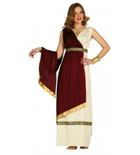 Charmante Rijke Romeinse Dame Vrouw Kostuum