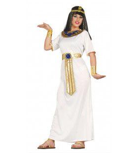 Egyptische Koningin Nefertiti Wit Vrouw Kostuum