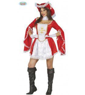 Musketier Dartel Jeanne Vrouw Kostuum