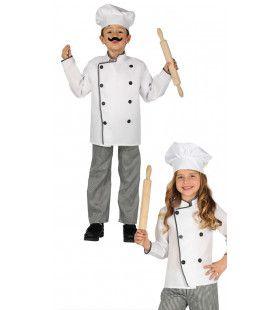 Top Kok Sterren Restaurant Jongen Kostuum
