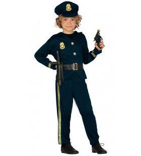 Handhaver Van De Wet Politie Jongen Kostuum