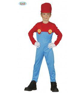 Stoer Mario Overall Jongen Kostuum