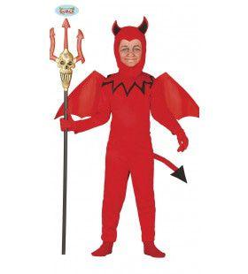 Knalrode Duivel Jongen Kostuum