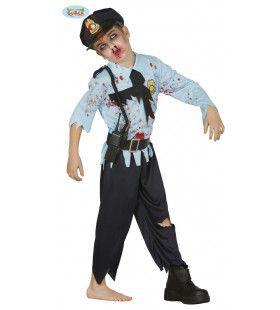 Arrestatie Mislukt Zombie Agent Jongen Kostuum