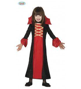 Vlammend Rode Vampier Meisje Kostuum