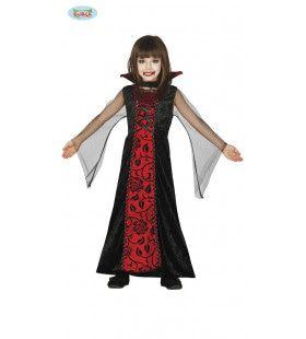 Dracula Met Bloedrode Lippen Meisje Kostuum