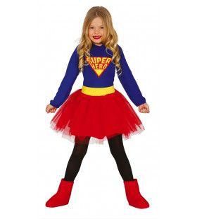 Sterke Supervrouw Meisje Kostuum