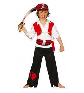 Onverschrokken Zeerover Jongen Kostuum