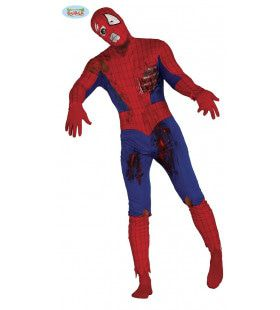 Draad Geknapt Spiderman Zombie Kostuum