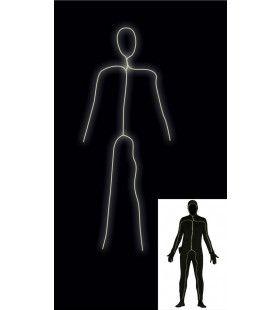 Grappig Lichtgevende Robot Man Kostuum