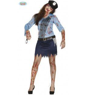 Overreden Politie Agente Vrouw Kostuum
